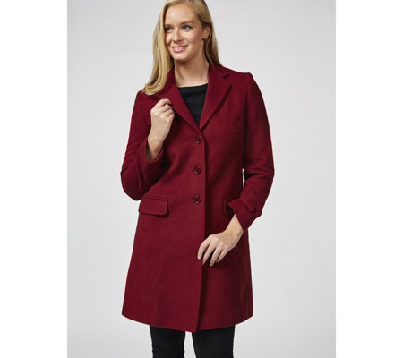 Helene Berman Button Front College Coat