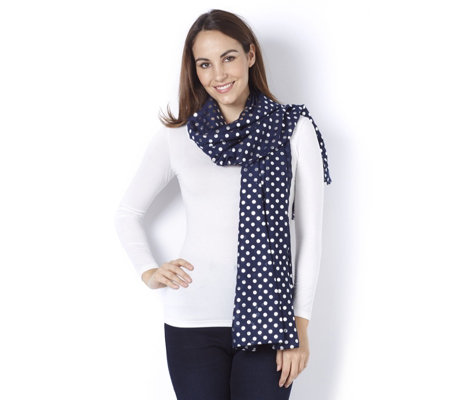Pia Rossini Lulu Scarf with Spot Detail