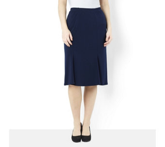 Kim & Co Stretch Crepe 4 Panel Fluted Skirt - 158372