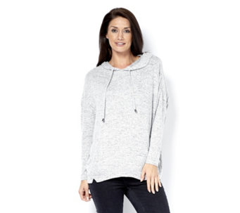 Anybody Loungewear Brushed Hacci Hooded Lounge Top - 160172