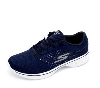 Skechers GOwalk 4 Exceed 3D Layer Lace Up Trainer - 162672