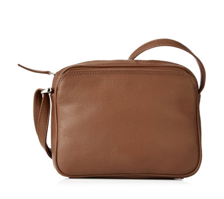 Amanda Lamb Square Leather Crossbody Bag