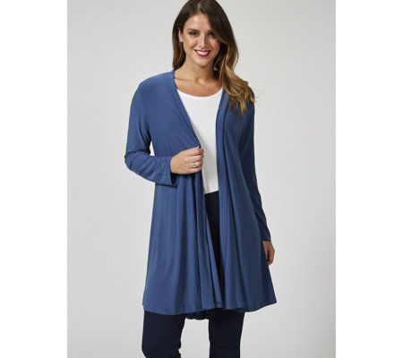 Long Sleeve Pleat Back Cardigan by Nina Leonard