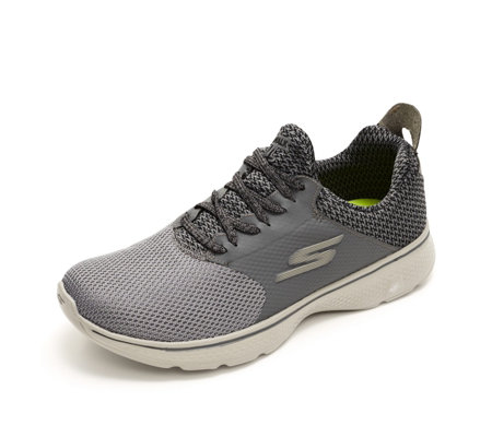 Skechers Men's GOwalk 4 Knitted Gore Lace Slip On Trainer