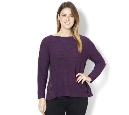 Together Knitted Jumper with Stud Hem Detail