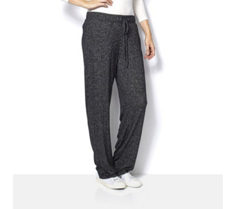 Cuddl Duds Comfortwear Sweater Knit Wide Waistband Trousers - 161274