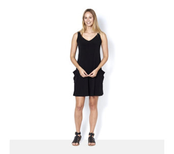 Kim & Co Brazil Knit Sleeveless Romper with Pockets - 164774