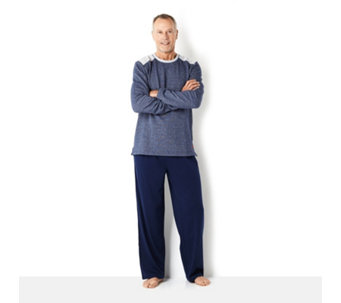 Stan Herman Brushed Back Space Dyed French Terry Men's PJ Set - 155975