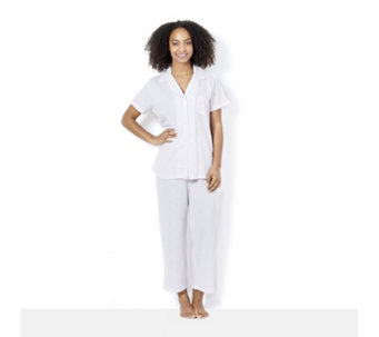 Carole Hochman Notch Collar Capri PJ Set - 162775