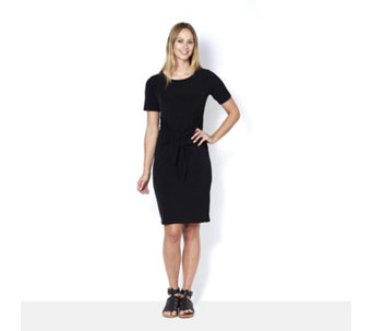Kim & Co Brazil Knit Short Sleeve Wrap Detail Dress - 164775