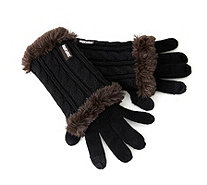 Muk Luks Classic Cable 3 in 1 Knitted Glove - 126876