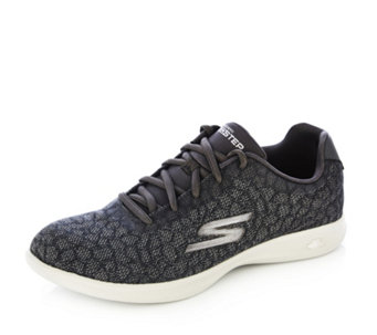 Skechers GO STEP Lite Radiancy Jacquard Engineered Mesh Lace Up Trainer - 163976