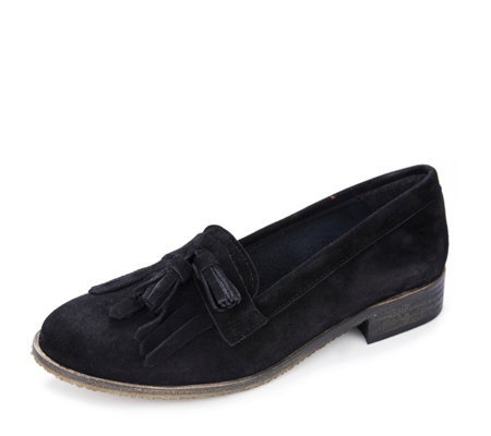 Adesso Tisha Suede Loafer with Tassel Detail