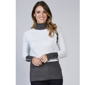 Marble Soft Touch Sweater with Contrast Button Detail