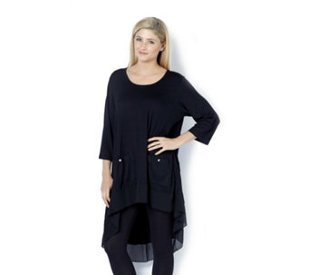 Jersey Chiffon Tunic by Michele Hope - 159977