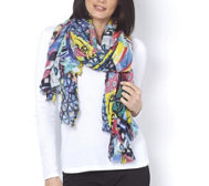 Attitudes by Renee Bright Abstract Scarf 1