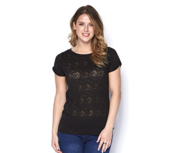 Purelime Front Heart Pattern T-Shirt - 164377