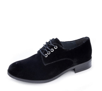 Adesso Ryen Velvet Lace Up Brogue - 168077