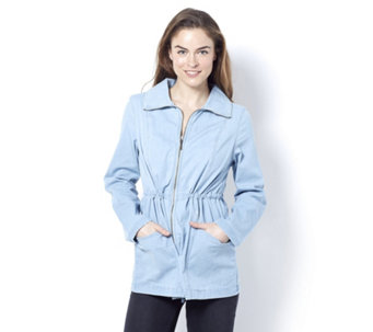 Denim & Co. Long Sleeve Drawstring Waist Jacket - 163078