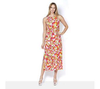 Coco Bianco Printed Halter Neck Dress - 165078