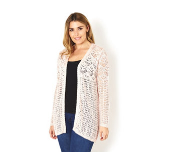 Absolutely Famous Pointelle Mix Edge to Edge Cardigan - 165178