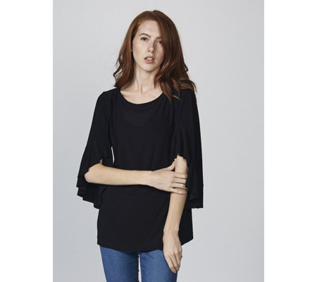 Attitudes by Renee Cha Cha Sleeve Jersey Tunic