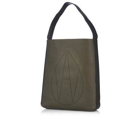 Amanda Wakeley The Jovi Leather Monogram Hobo Bag