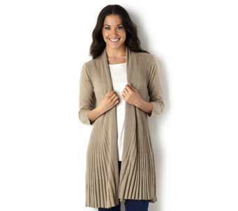 Ronen Chen Pleat Knit Swing Cardigan - 144581