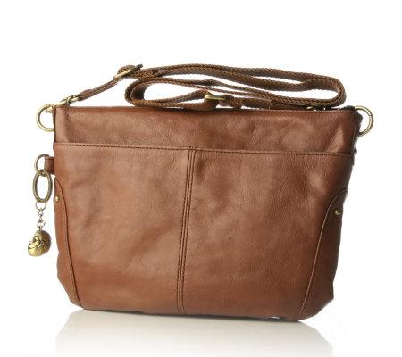 kipling andi leather cross body shoulder bag qvc uk. Black Bedroom Furniture Sets. Home Design Ideas