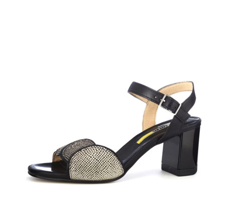 Manas Leather Reptile Effect Slingback Sandal