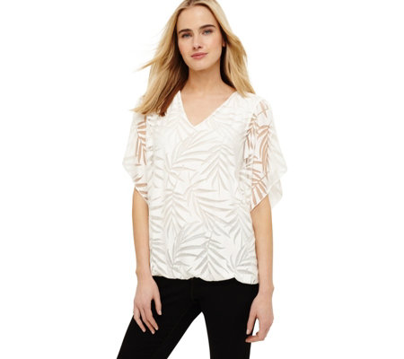Phase Eight Felicia Feather Burnout Top