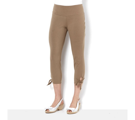 Women with Control Petite Tie Side Crop Trousers