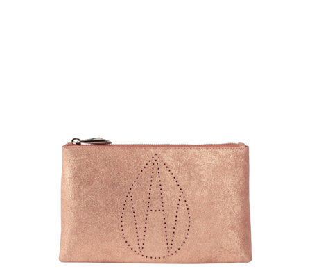 Amanda Wakeley Mercury Monogram Large Leather Clutch