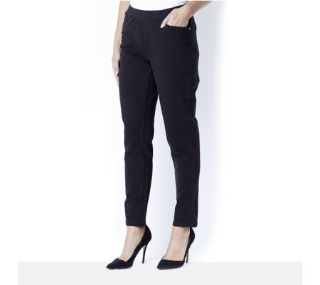 Denim & Co. Slim Leg Ankle Trouser
