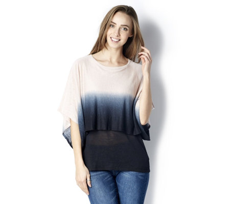MarlaWynne 3/4 Angel Sleeve Ombre Capelet