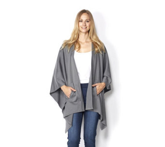 Knitted Wrap with Front Pocket by Nina Leonard - 160586