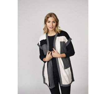 Marble Colour Block Cardigan - 165986