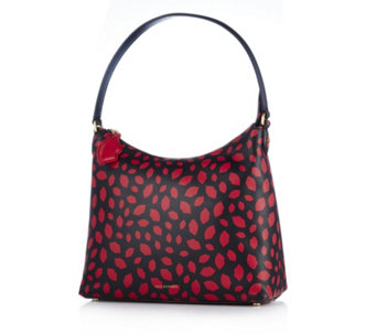 Lulu Guinness Lucilla Grainy Leather Hobo Bag - 166586