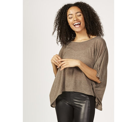 Join Clothes Fine Jersey Crepe Cropped Jumper