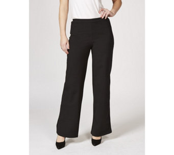 Women with Control Tuxedo Stripe Regular Trousers - 168186