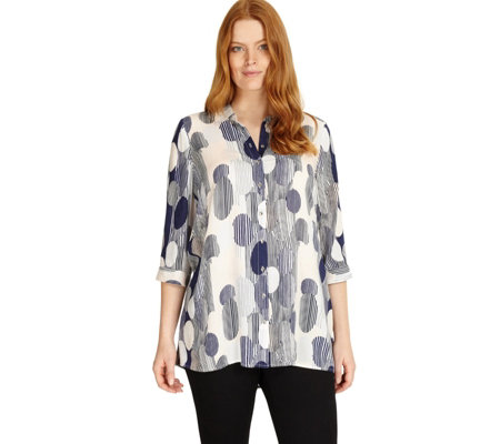 Studio 8 by Phase Eight 3/4 Sleeve Printed Rozz Blouse