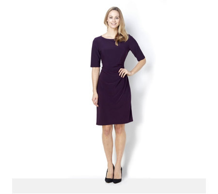 Coco Bianco Jersey Dress with Side Tie Detail