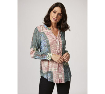 Fashion by Together Printed Crinkle Blouse - 165687