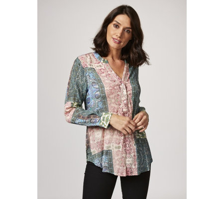 Together Printed Crinkle Blouse