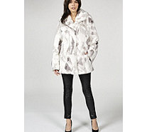 Dennis Basso Sculpted Faux Fur Shawl Collar Coat - 168487