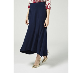 Kim & Co Brazil Knit Hi Low Wide Waistband Maxi Panel Skirt - 169987