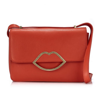 Lulu Guinness Edie Small Smooth Leather Crossbody Bag - 151688