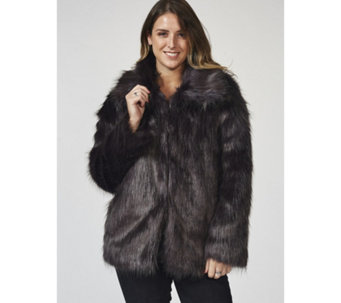 Bonnie Day Long Line Silky Faux Fur Coat - 168088
