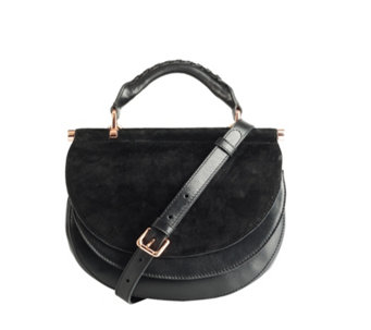 Amanda Wakeley The Presley Leather Crossbody Bag with Adjustable Strap -  169088