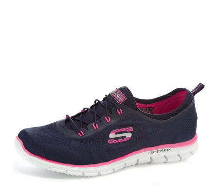 Skechers Women's Stretch Fit Glider Bungee Trainer with Memory Foam